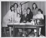 Mal, Jo and kids at Arthur Godfrey's desk - WCBS New York, 1966.